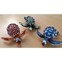 Barrette bead turtle