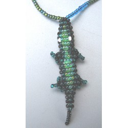 Necklace bead lizard (gecko)