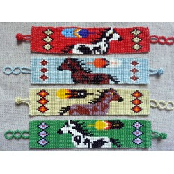 bracelet bead native american style 21 row
