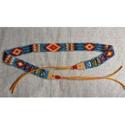 Hatband leather bead native american style