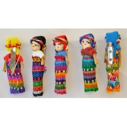Worry Doll barrette two inch dolls