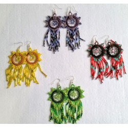 Bead earrings dreamcatcher