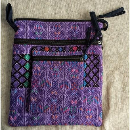 Purse journal bag cotton huipile
