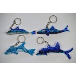 Keychain bead dolphin