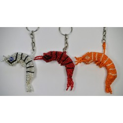 Keychain bead shrimp