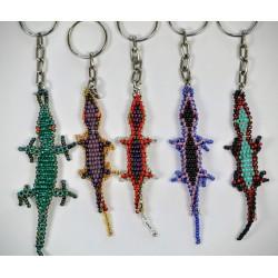 Keychain bead lizard gecko