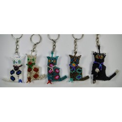 Keychain bead cat