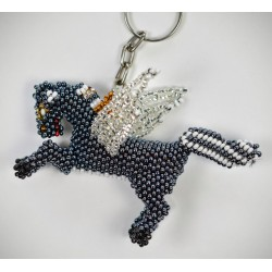 Keychain bead Winged Pegasus