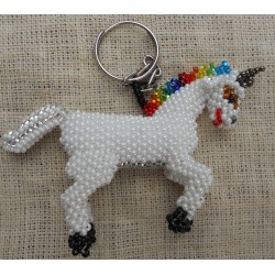 Keychain bead unicorn