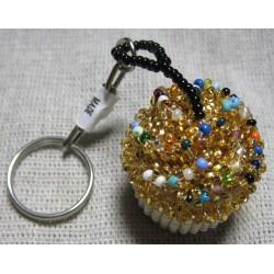 Keychain bead cupcake