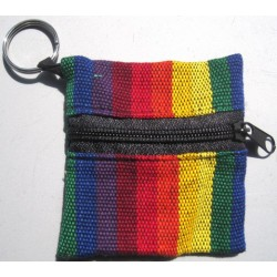 Keychain cotton square rainbow