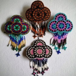 Barrette bead Circles large