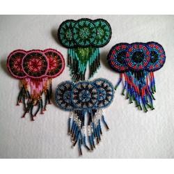 Barrette bead Circles fringe