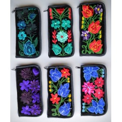 eyeglass case embroidered velvet