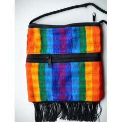 Purse rainbow fringe